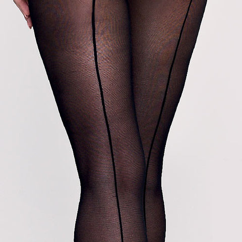 Silky Semi Opaque 40 Denier Seamed Tights - Leggsbeautiful