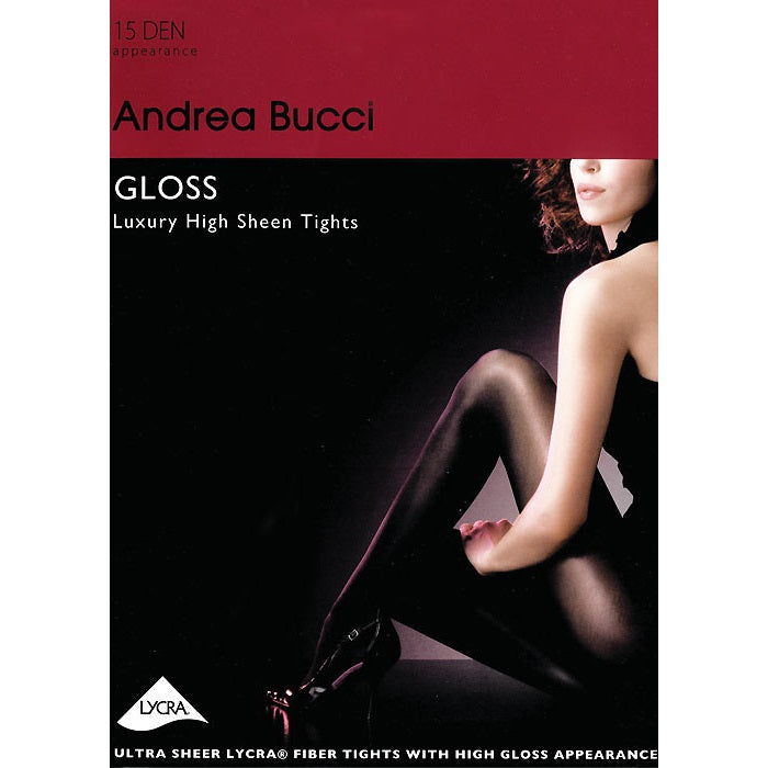 Andrea Bucci 15 Denier Lace Gloss Luxury High Sheen Tights