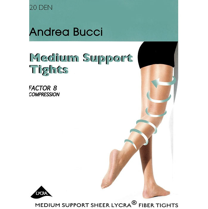 Andrea Bucci 20 Denier Medium Support Factor 8 Support Tights - Leggsbeautiful