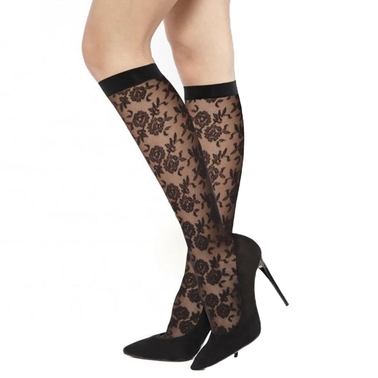 Andrea Bucci Floral Design Knee High Socks