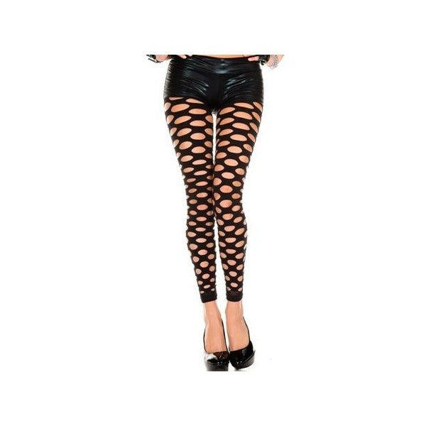 Music Legs Opaque Large Pothole Leggings - Leggsbeautiful