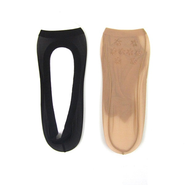 Sheer Toeless Ankle Shoe Liners With Non Slip