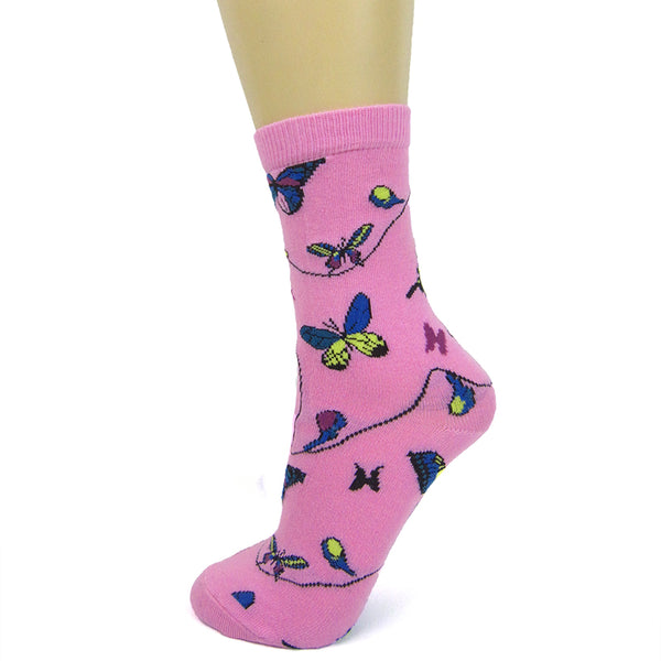 Cotton Blend Butterfly Ankle Socks - Leggsbeautiful