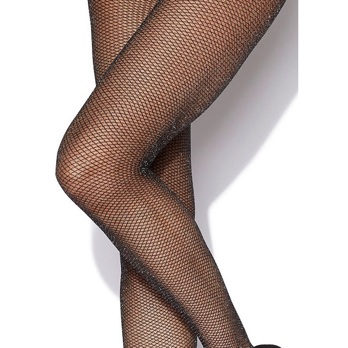 Silky Lurex Fishnet Tights Medium Net