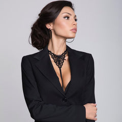 Julimex Bra Clip On Choker Harness With Lace Collar - Leggsbeautiful