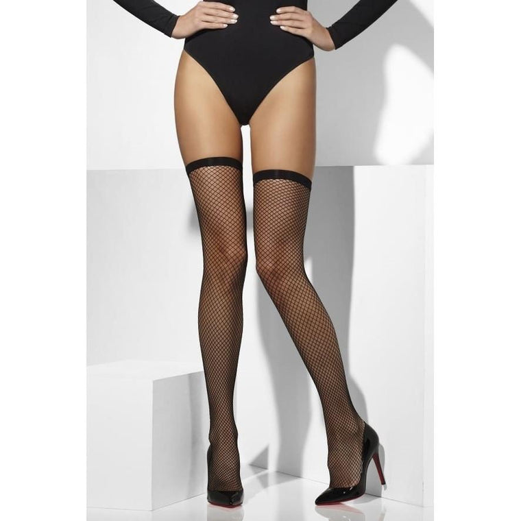Fever Plain Top Lattice Net Hold Ups
