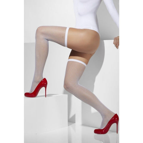 Fever Plain Top Fishnet Hold Ups - Leggsbeautiful
