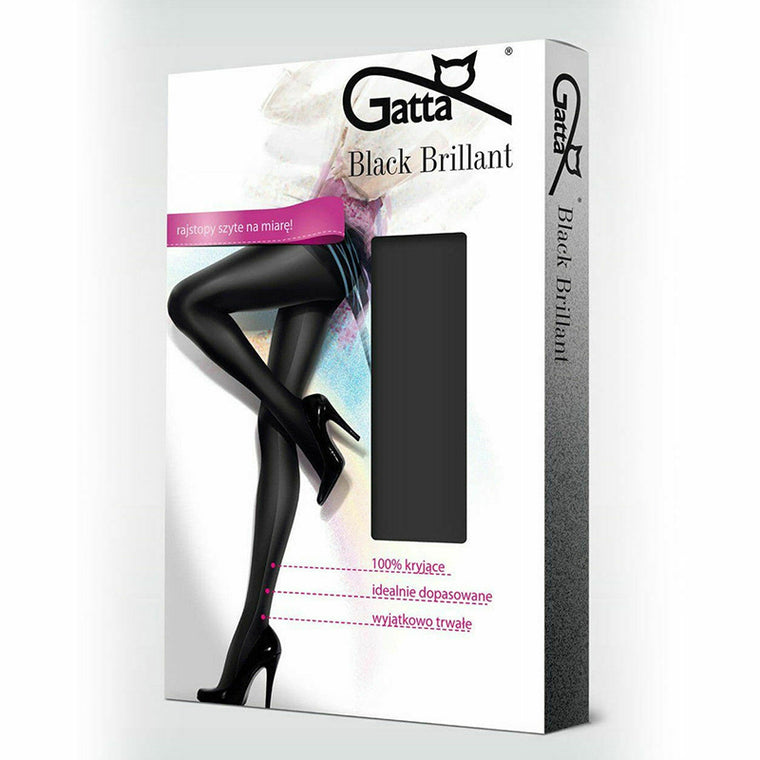 Gatta 120 Denier Black Brilliant Tights