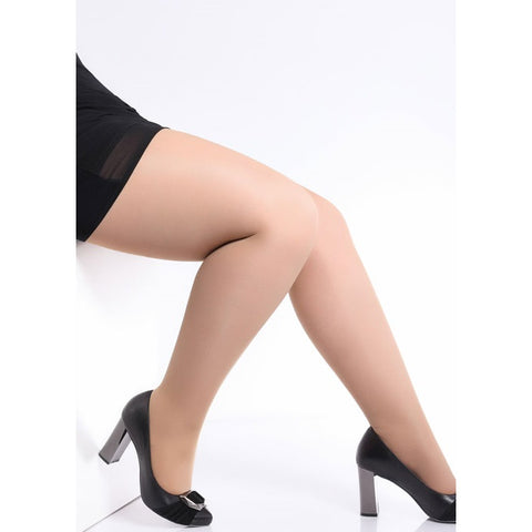 Giulia Molly 40 Denier Plus Size Semi Opaque Tights - Leggsbeautiful