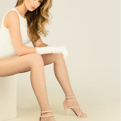 Gabriella Sheer Contrast Spot Nova Tights - Leggsbeautiful