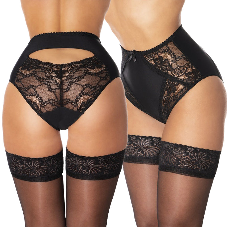 Nylon Dreams Betty Peekaboo High Waist Knickers