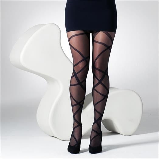 Gipsy 15 Denier Sheer Ribbon Wrap Tights