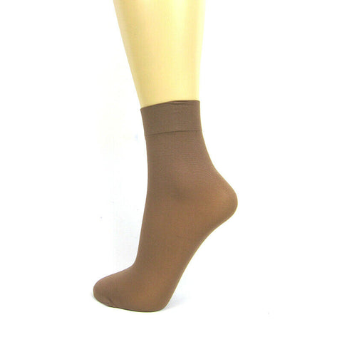 Silky Soft Opaque 40 Denier Ankle Highs 3 Pair Pack - Leggsbeautiful