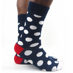 Luv Socks Men's Cotton Blend Big Spot Ankle Socks - Leggsbeautiful