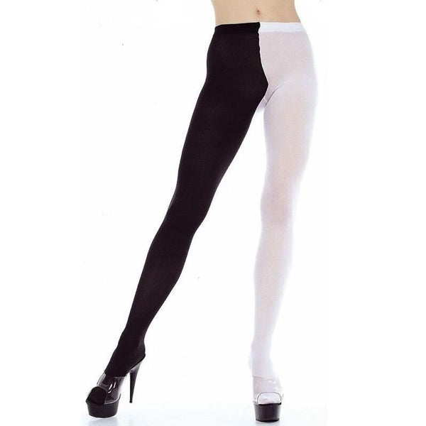 Music Legs Opaque Jester Tights - Leggsbeautiful