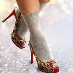 Couture By Silky Lurex Glitter Ankle Socks [2Pairs] - Leggsbeautiful