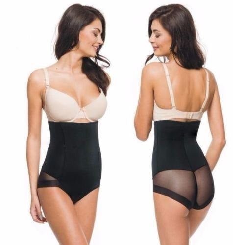 Invisible Firm Control Mesh Paneled Shaper With Thong
