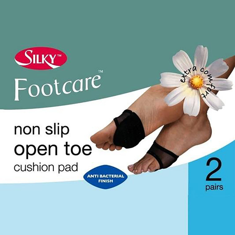 Silky Open Toe Sole Cushion Pads - 2 Pairs
