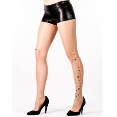 Leggsbeautiful Sheer Tattoo Star Tights - Leggsbeautiful