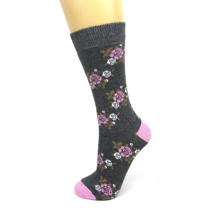 Cotton Rich Country Floral Ankle Socks