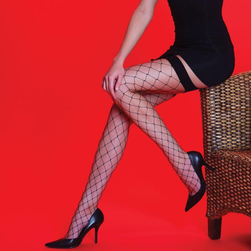 Silky Scarlet Whale Net Stockings - Leggsbeautiful