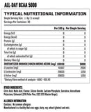 Nutritech BCAA 5000 ingredients