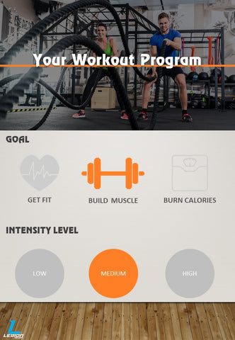 Build Muscle Medium Intensity Workout Program
