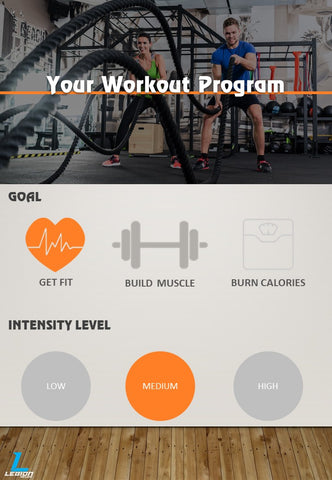 Get Fit Medium Intensity Workout Program