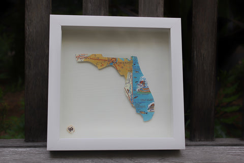 SEA OLD FLORIDA MAP ART- Jax/St. Augustine