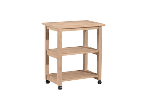 Unfinished Microwave Cart - Main Street Furniture Outlet