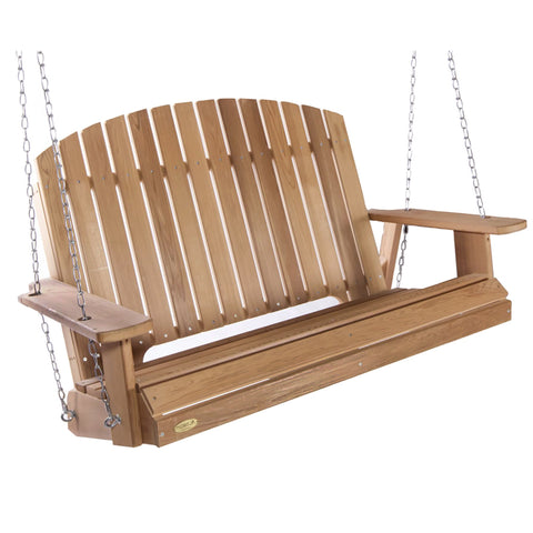 4 Foot Pergola Swing - Cedar - Main Street Furniture Outlet