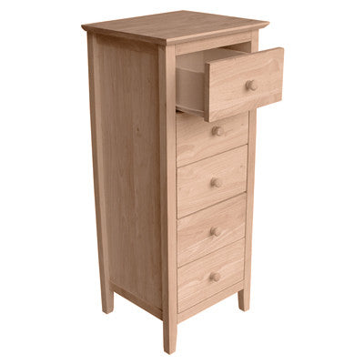 Unfinished Lancaster 5-Drawer Lingerie Chest - Main Street Furniture Outlet