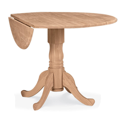 Unfinished 42-Inch Dual Drop Leaf Table - Main Street Furniture Outlet