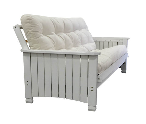 Charleston White Full Futon Set - Main Street Furniture Outlet