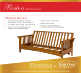 Boston Cherry Oak Chair Futon Set - Main Street Furniture Outlet