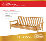 Natural Albany Futon Sofa with Full Foam Mattress - Main Street Furniture Outlet