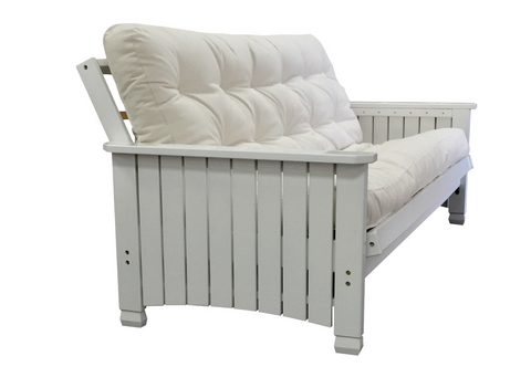 Charleston Cottage White Wood Full Futon Frame - Main Street Furniture Outlet