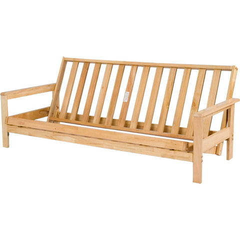Natural Wood Futon Frame - Main Street Furniture Outlet