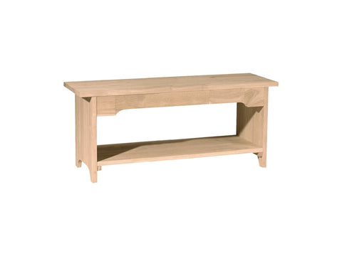 "Unfinished 48"" Brookstone Bench - Main Street Furniture Outlet"