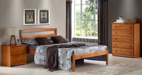 Innovations Pine Berkeley Platform Bed - Main Street Furniture Outlet