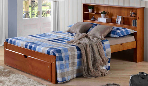 Del Ray Bookcase Bed Frame - Main Street Furniture Outlet