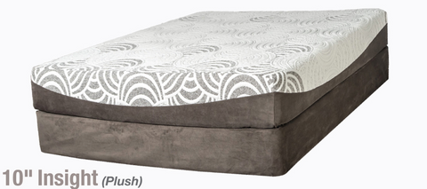 "10"" Plush Memory Foam Mattress - Main Street Furniture Outlet"