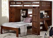 London Loft Bed - Desk, Chest, Ladder - Main Street Furniture Outlet