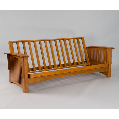 Manhattan Solid Cherry Oak Full Futon Frame - Main Street Furniture Outlet