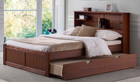 Newport Pine Bookcase Headboard - Main Street Furniture Outlet