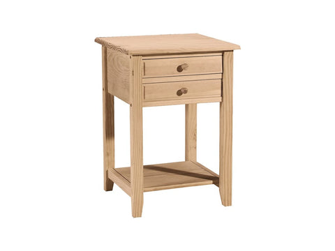 Unfinished Lamp Table - Main Street Furniture Outlet