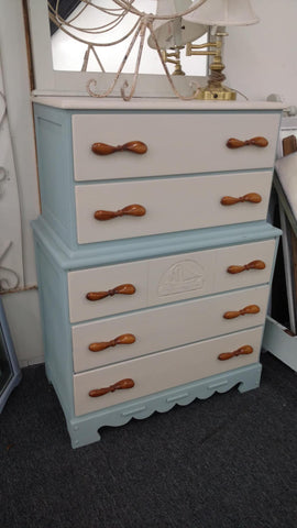 Blue and White Sailor Dresser - Main Street Furniture Outlet