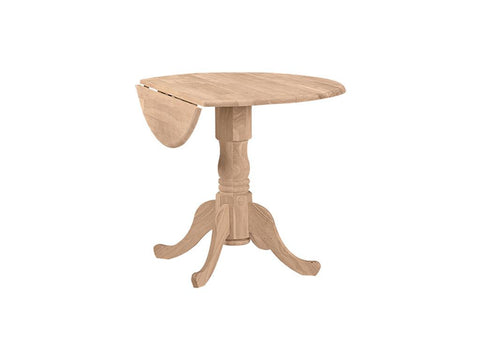 Unfinished 36-Inch Dual Drop Leaf Table - Main Street Furniture Outlet