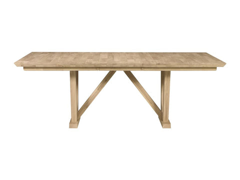Unfinished Athena Dining Table - Main Street Furniture Outlet