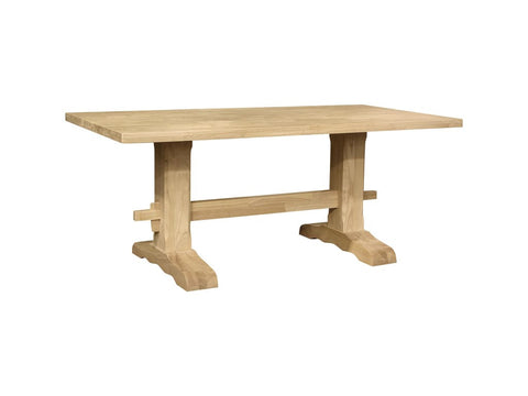 Unfinished Trestle Table - Main Street Furniture Outlet